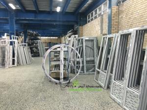 مراحل ساخت درب و پنجره دوجداره upvc