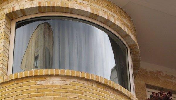 خم پنجره دوجداره upvc