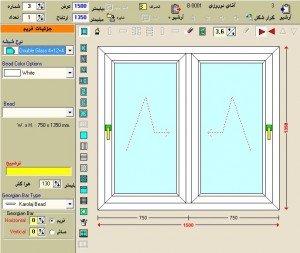 انواع بازشو درب و پنجره دوجداره upvc