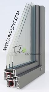 پنجره دوجداره upvc با روکش آلومینیوم