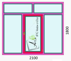 پنجره دوجداره با کتیبه